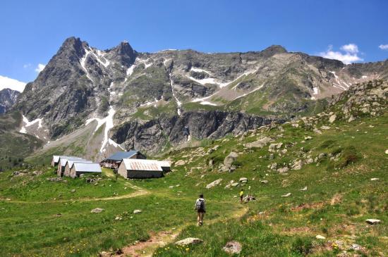 Arrivée aux alpages de Loriaz