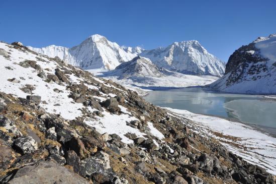 Le lac supérieur du complexe des Panch pokhari