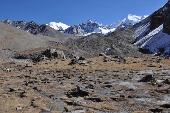 Le fond de la haute vallée de la Mu khola (Tongu, Hongge et Mukot himal)