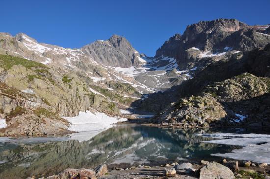 Au départ du refuge du Lac Blanc