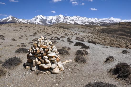 Lors de la traversée du plateau entre Amka et Chaka khola