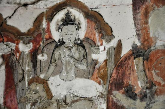 Détail des peintures murales de Saspol