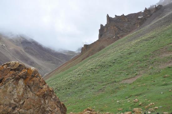 Sur le chemin de Kargyak au Surichun La, passage du col à 4820m