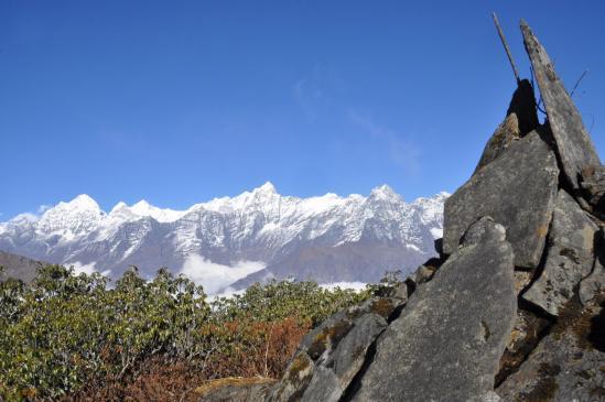 Sur la Shagmanan Ragpo danda, de l'Everest au Gongla