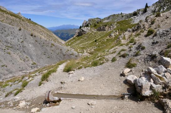 Au Pas des Bachassons (au fond, le massif de Belledonne)