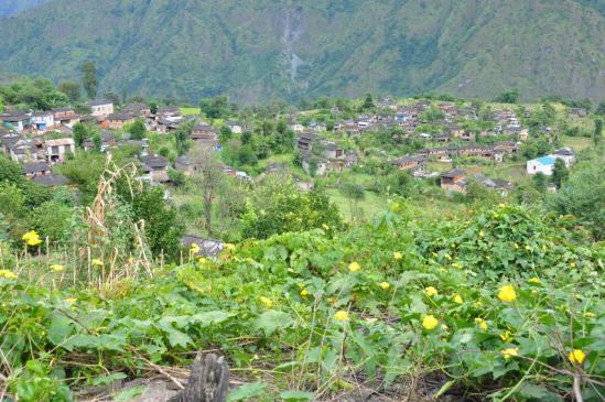 Le village gurung de Takam