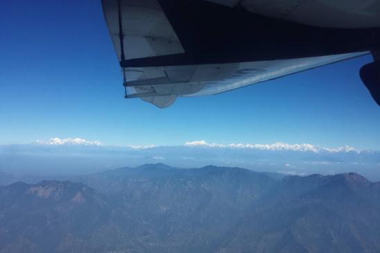 Entre Lukla et KTM, Ganesh, Langtang, Shishapangma et Dorje Lakpa