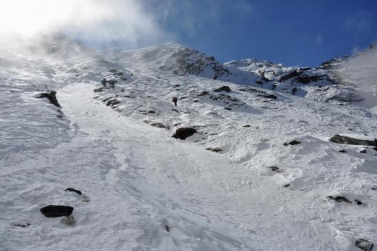 Dans la montée au Zatr Og (souvent glacée...)