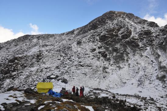 Le camp sous le sommet du Baramji