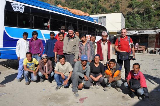 L'équipe A.R.T à Beni sur le chemin du retour. Sniff !