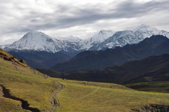 Descente du Phalgune La (Pyutha Hiu Chuli, Churen himal et Dhaulagiri VI)