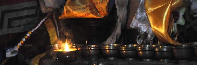 Puja chez Tsewang Bista à Lo Monthang