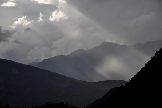 Jeux d'ombres et de lumières sur la Kayim danda