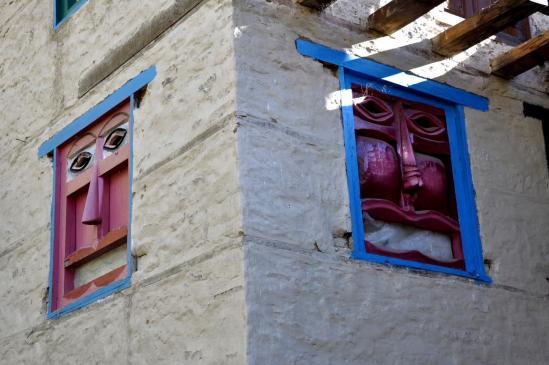 Fenêtres saliks à Hurikot