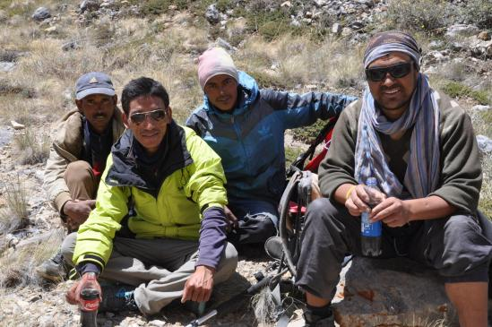 L'équipe A.T.M (de gauche à droite, Donitchen, Tundup, Sonam et Mutup)