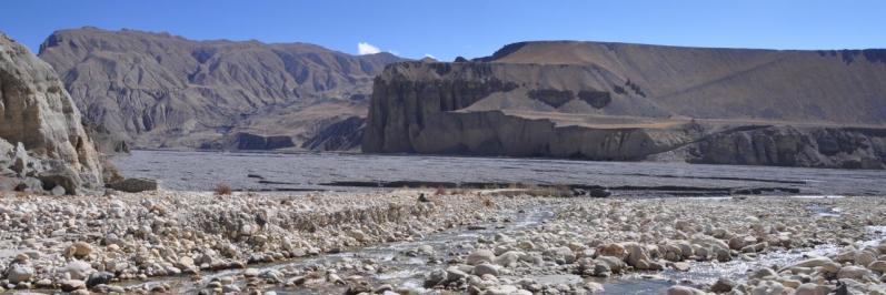 A la confluence de la Tsarang khola