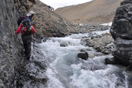 Haute vallée de la Leschun Togpo : le dernier millier de mètres...