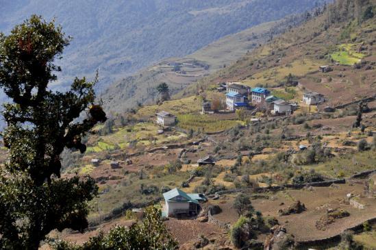 Arrivée au village sherpa de Lachhewar