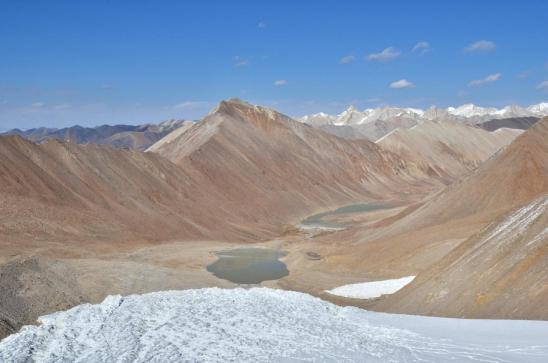 Zoom sur la vallée glaciaire de la Kekyap khola et le Mustang himal