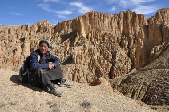 Pura Sangmu Partchya, guide à Konchok Ling
