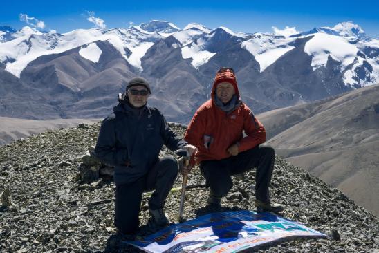 Marinus et Martial au sommet du Gaugiri (photo Bhim Tamang)