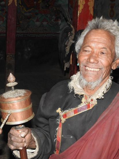 Un habitant de Shey Gompa