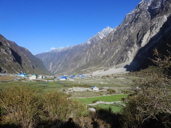 Le (nouveau...) village de Langtang
