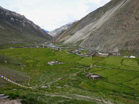 Le domaine de Dho Tarap vu depuis la gompa