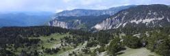Glandasse, Archiane et Tussac vus depuis les crêtes de la Montagnette