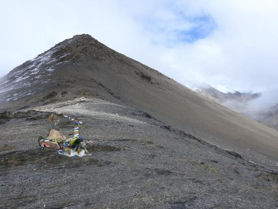 Passage au Jungben La, le plus haut du trek avec ses 5555m !