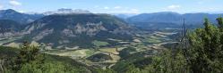 La vallée de la Chauranne vue depuis la crête de Boulon