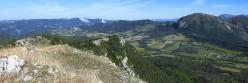 La montagne de Tarsimoure vue depuis la crête des Casses