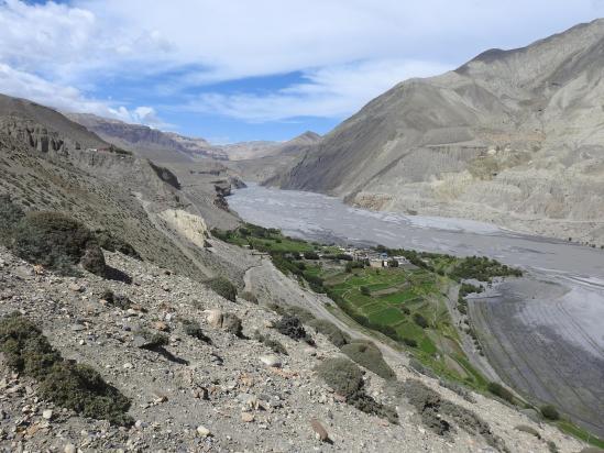 Tirigaon en RD de la Kali Gandaki