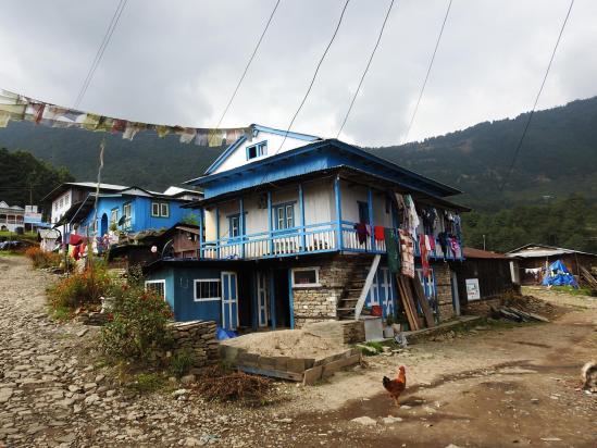 Les maisons colorées de Bhamti Bhandar