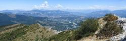 La vallée du Buëch et le Dévoluy depuis le sommet du Pic de Saint-Cyr