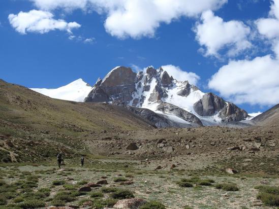 A l'approche des pics du Dawa peak ABC