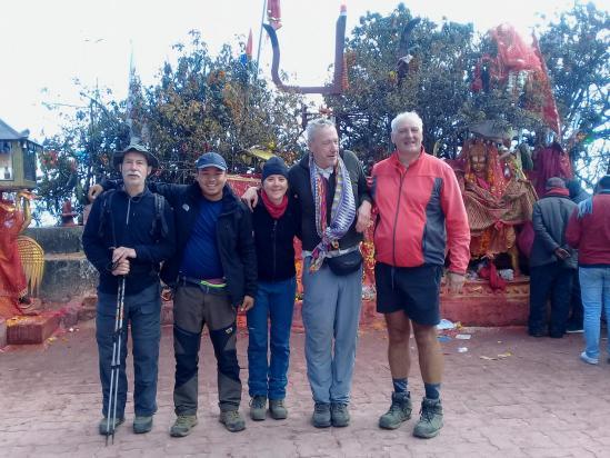 Début de trek à près de 4000m sur la colline de Pathibhara