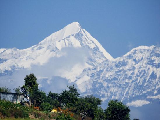 Le Dorje Lakpa vu depuis Dulikhel