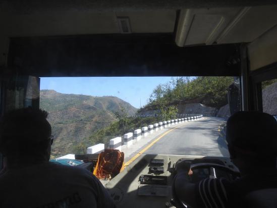 A bord de l'autobus entre Manthali et Sindhuli
