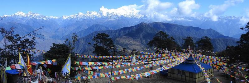 Pathibara, LE belvédère sur le massif du Kangchenjunga