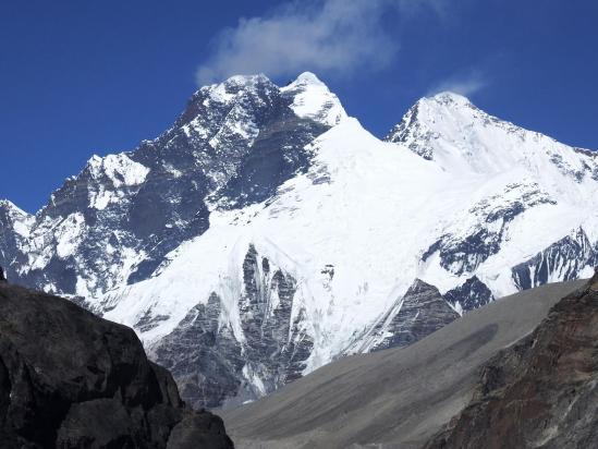 Lhotse à gauche, Sagarmatha versant tibétain à droite