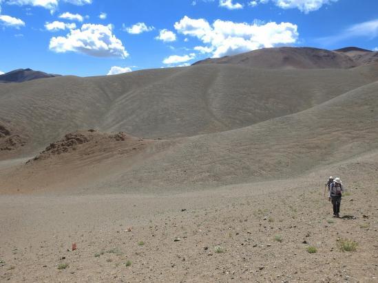 Au milieu d'un reg de la plus belle obédience marocaine, à l'approche de Nyima gonpa