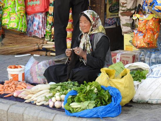 Marché aux légumes sur Main Bazar à Leh