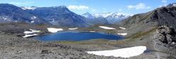 Au col de la Rocheure (vue sur les glaciers de la Vanoise et la Dent Parrachée)