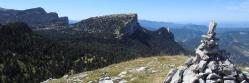 Au sommet de la montagne de Peyre Rouge