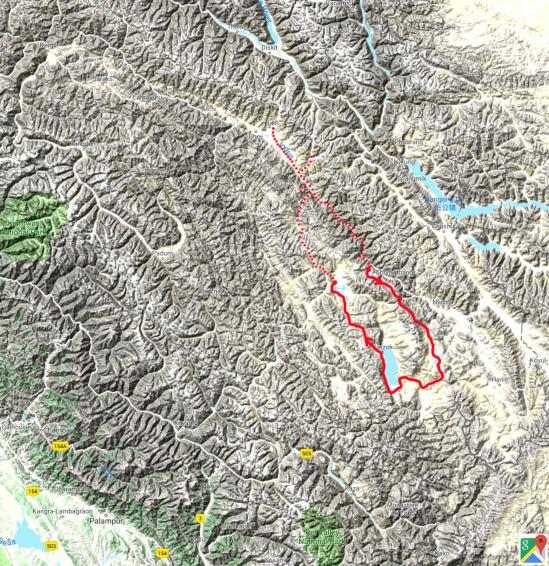 Fond plan inde himalayenne tour du Rupshu