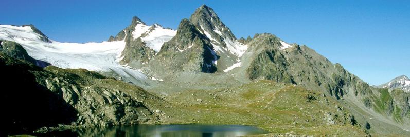 Le glacier du Ruitor et le sommet du Grand Assaly
