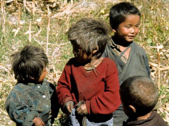 Groupe d'enfants à Ghap