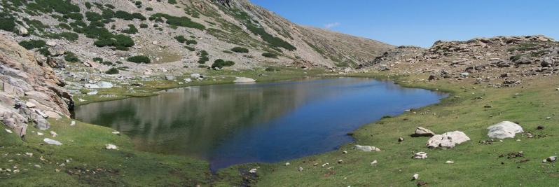 L'un des lacs de Lancone : Ghiarghe Rosse