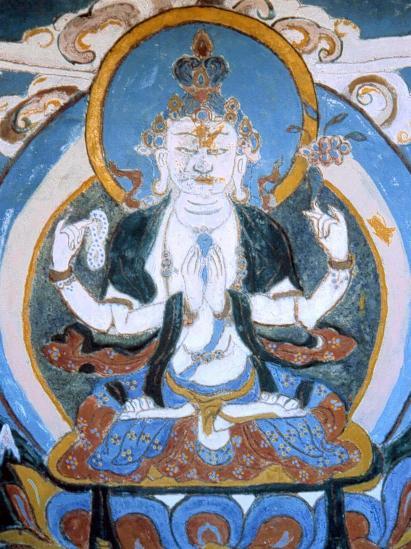 Blue Buddha à Ghul bhanjyang